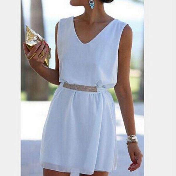 Womens-White-Sleeveless-Chiffon-Dresses-Evening-Sexy-Party-Cocktail-Mini-Dress