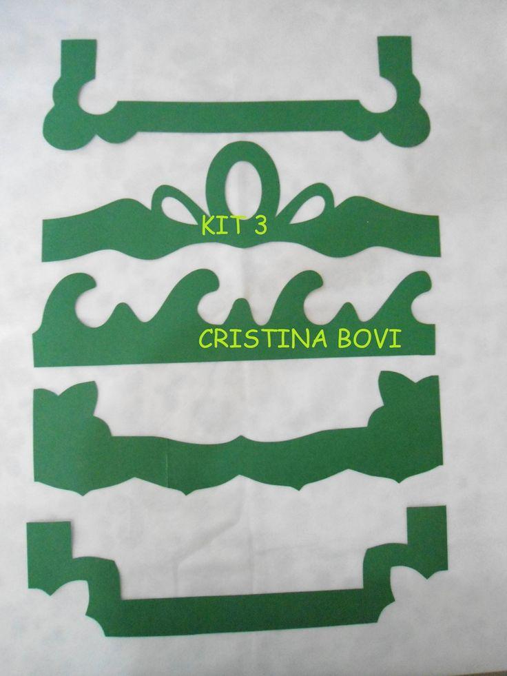 Kit de réguas para barrados, feitas em papel cartão. Podem ser usadas em patch aplique, pintura, aplicar em panos de prato, toalhas, bolsas, caixas de mdf, uso infinito conforme sua criatividade.