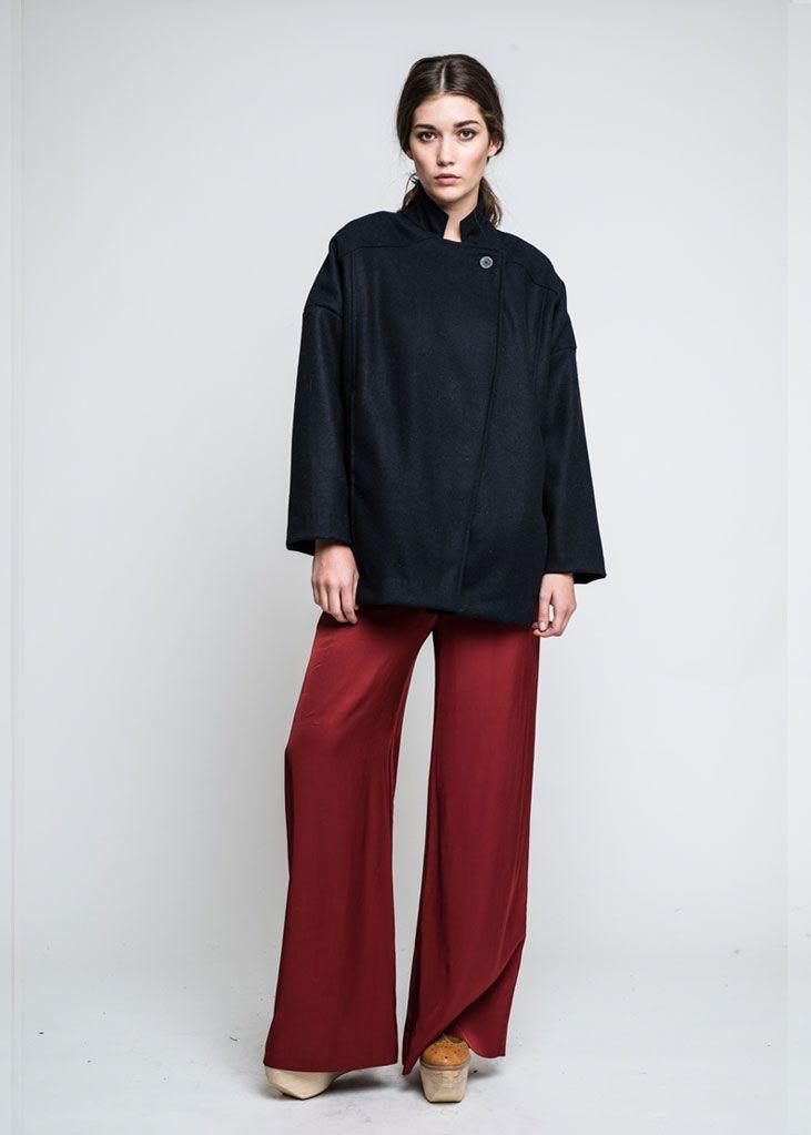Saddle Blanket Coat, Slink Flared Pants