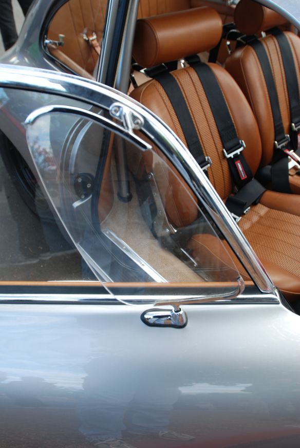 Silver Porsche 356 A Outlaw Coupe Saddle Leather Interior