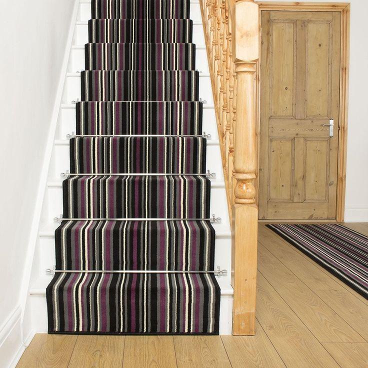 Purple Stair Runner Rug Strike