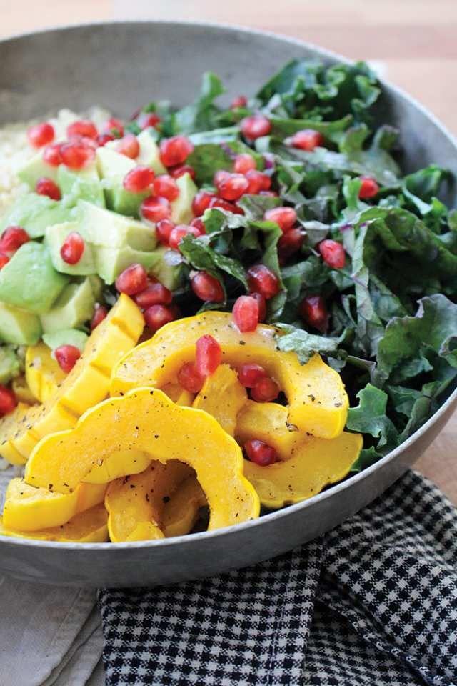 Quinoa, kale, squash and pomegranate salad. | Recipes | Pinterest ...