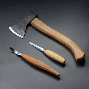 Robin Wood axe, spoon knife and carving knife