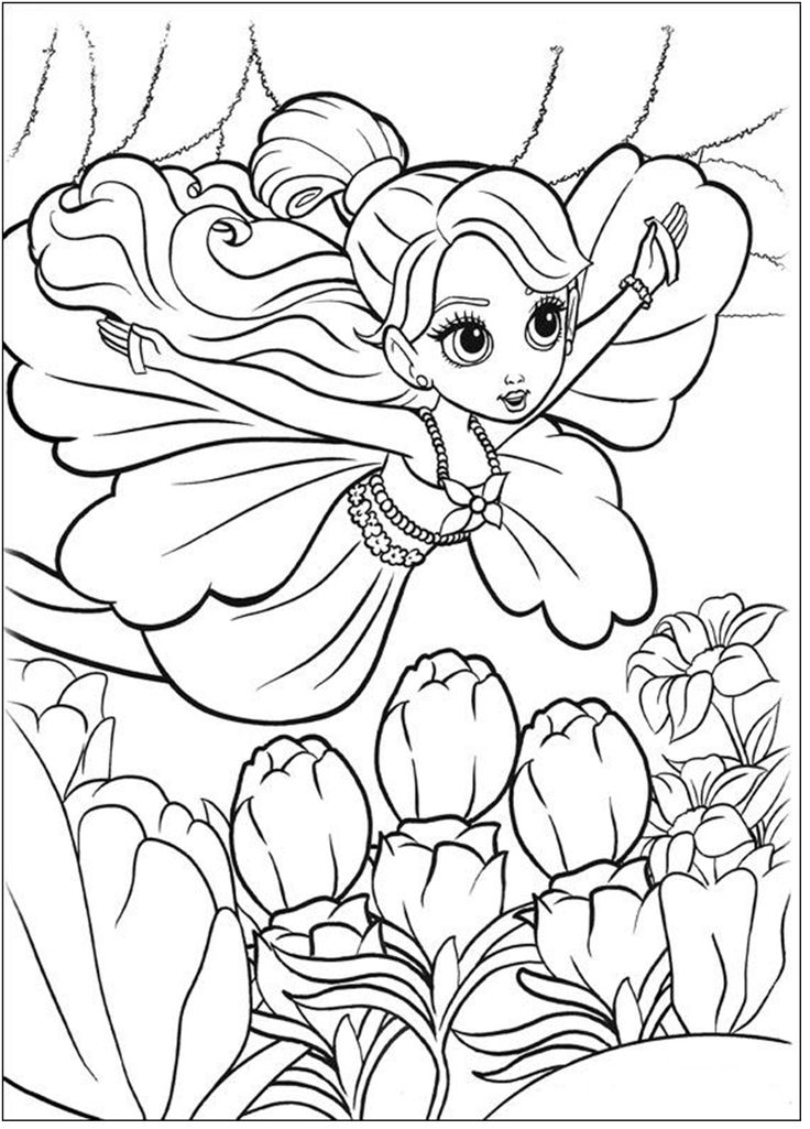 Barbie Thumbelina Coloring Page 3 Is A From BookLet Your Children Express Their Imagination When They Color The