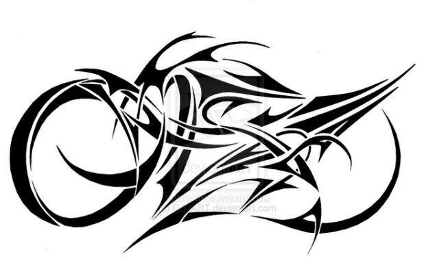Tribal Motorcycle Tattoos Cliparts Co Tattoos Bike Tattoos Tribal