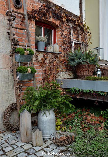 Die 25 besten ideen zu blumenregal auf pinterest pflanzenregale terassengestaltung und regal - Winterdeko balkon ...