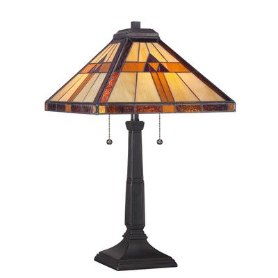"Quoizel Bryant Tiffany 23"" H Table Lamp with Empire Shade"
