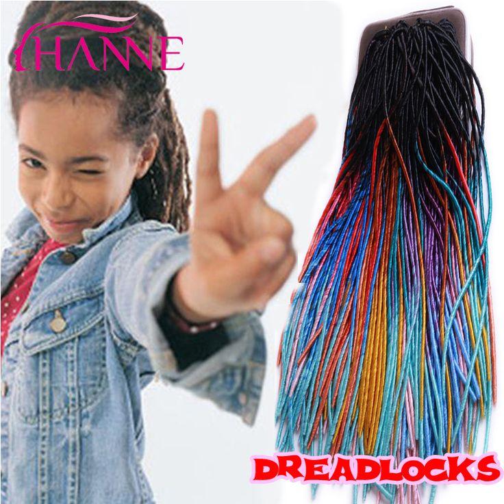 Ombre 20 ''Crochet Tresse Cheveux Synthétique Dread Verrouillage Extensions 20 Brins Ombre Kanekalon Tressage Cheveux La Havane Crochet Coiffures