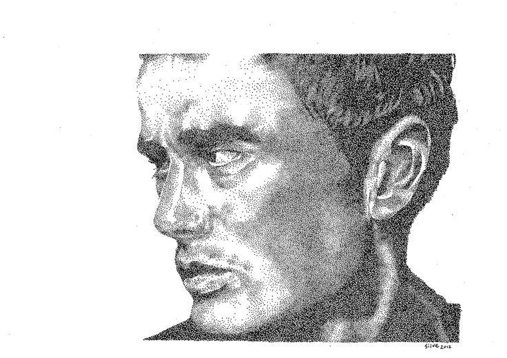 James Dean - www.sereninspired.com - pointillism