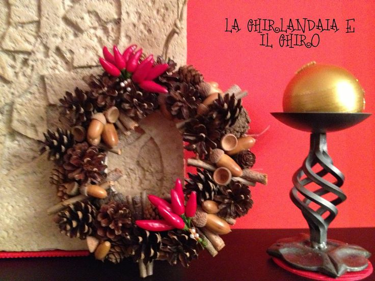 Wreath with pine cones