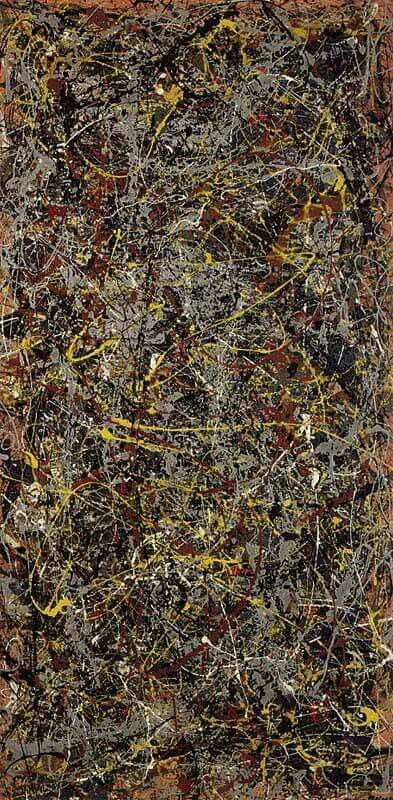 Jackson Pollock - No. 5 (1948)  Jackson Pollock created his own unique style of painting. He would splash and dribble paint onto the canvas straight from the can. This style of art was later called Action Painting. In this painting yellow and brown paint is drizzled to create an interesting nest of colors and textures. The painting sold in 2006 for an amazing $140 million.