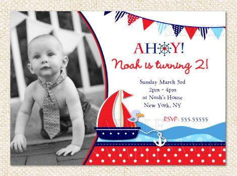 The 25+ best Nautical birthday invitations ideas on Pinterest ...