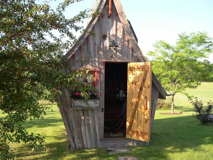 awesome The Rustic Way Whimsical Huts Built With Reclaimed Wood  #Architecture #Hut #KidsPlayhouse #Reclaimed #Sauna #Shed #Wood It looks like a kids playhouse. Love the work of Dan Pauly from The Rustic Way when it comes to building garden sheds, playhouses, warming houses, cot...