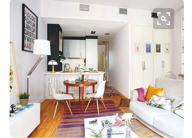Open plan living - Art Deco pieces