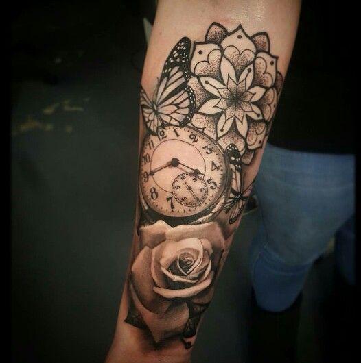 Taschenuhr herz tattoo  Die besten 25+ Uhren tattoos Ideen auf Pinterest | Uhr ...