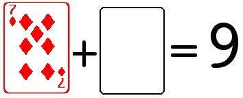 Playing card math mats