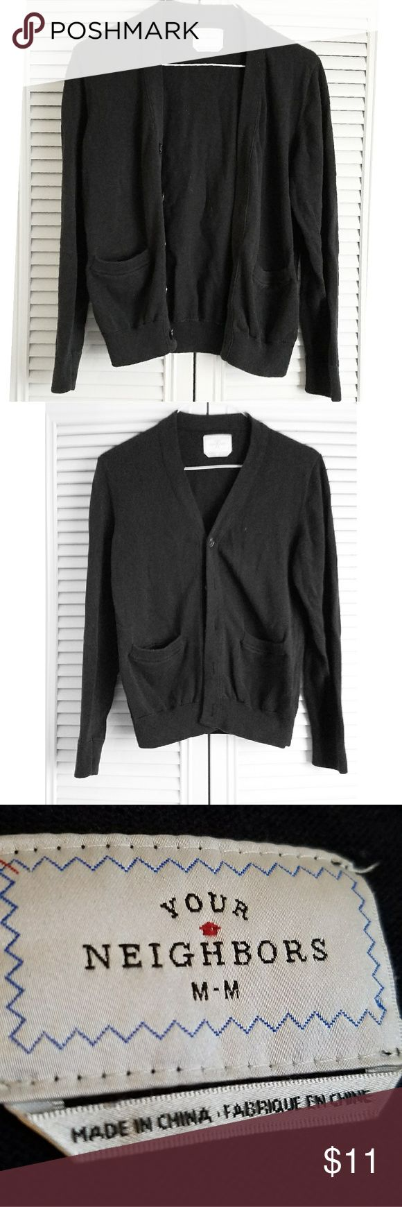 Your Neighbors Black Boyfriend Cardigan Black cardigan, loose fit. Super comfortable! Urban Outfitters Sweaters Cardigans