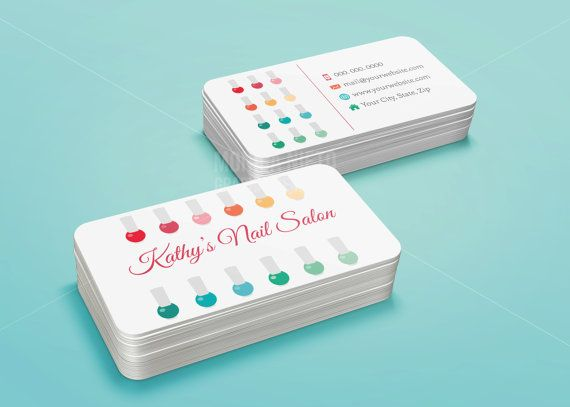 42 best business cards and stationary images on pinterest business custom printable nail salon business card template reheart Image collections