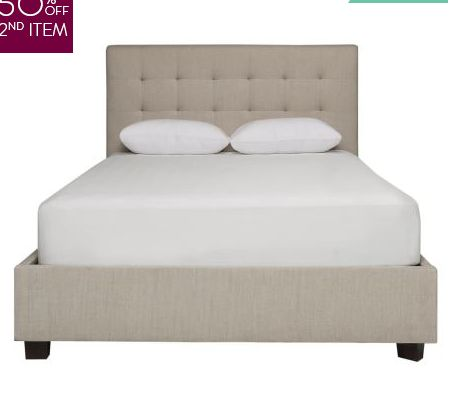 Freedom 'Kip simple tufted queen bed' $1300