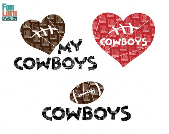 Football SVG Football season  Cowboys  Football Love by FunLurnSVG