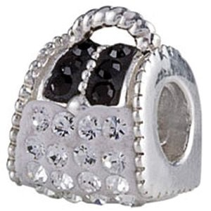 Authentic SilveRado White Bling Handbag Purse European Charm Bead --- http://www.pinterest.com.tocool.in/5jr