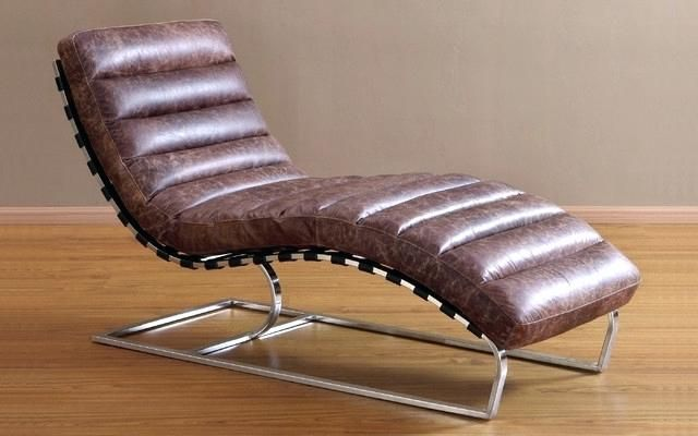 Leather Chaise Lounge Chair Full Size Of Modern Leather Chaise 3