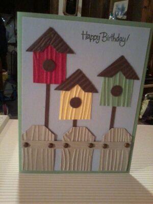 Bird house card - got this idea off of Pinterest.