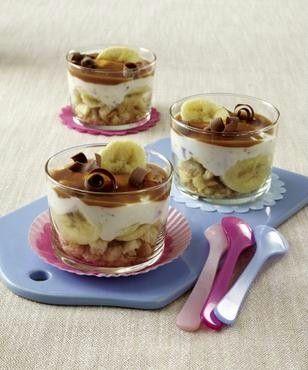 Bananen-Quark-Stracciatella-Trifle