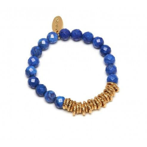 Lola Rose Hampstead Sapphire Blue Magnesite Stretch Bracelet