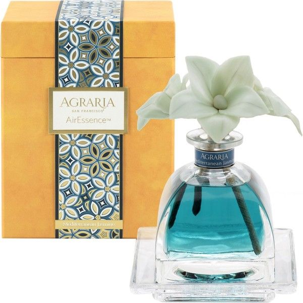 THE WEDDING SHOP Mediterranean Jasmine PetiteEssence scent diffuser... ($63) ❤ liked on Polyvore featuring home, home decor, home fragrance, jasmine diffuser, essential oils diffuser, flower stem, fragrance tray and scent diffuser