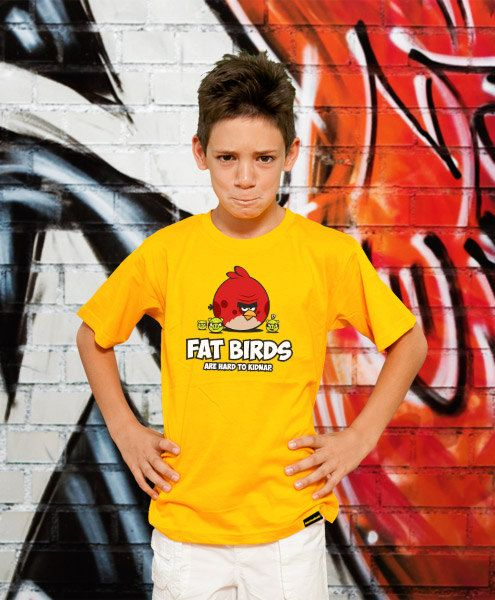 Fat Birds Funny TShirt Kids Gift Young Boy Tshirt by store365