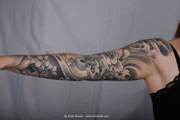 japanese sleeve tattoo black and grey - Google Search