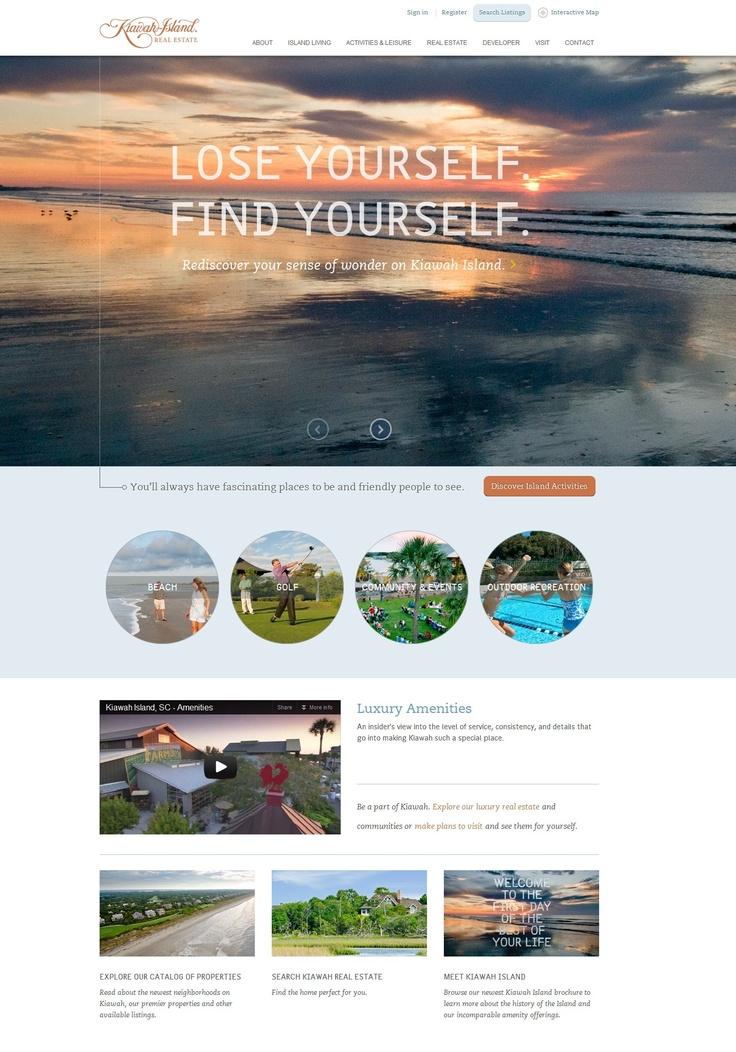 A beauitful, simple, elegant website for real estate. #webdesign