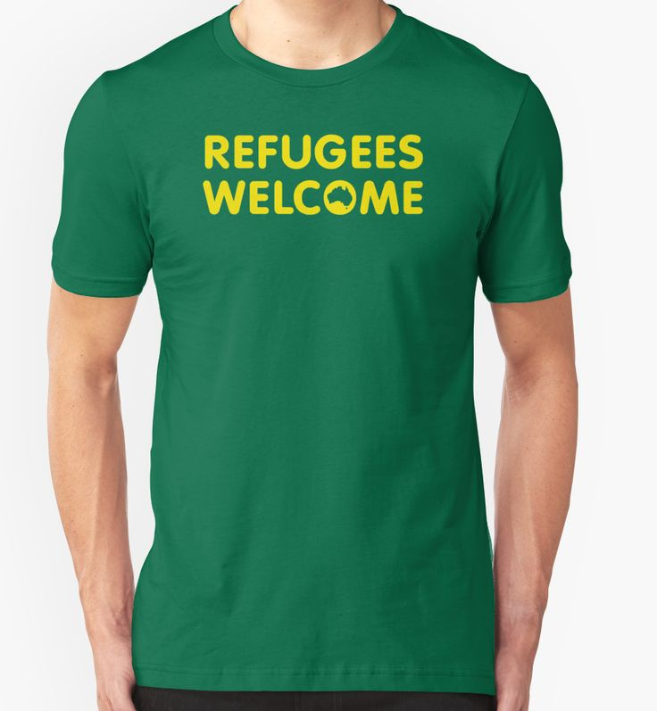 Refugees Welcome Australia (Yellow) by M  Bianchi