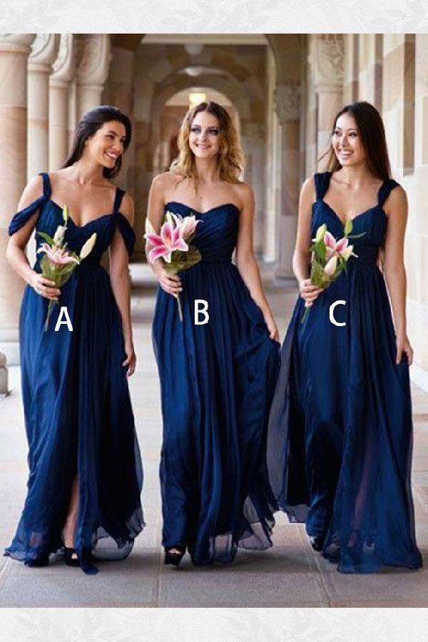 Distinct Bridesmaid Dresses Blue 8e6b60353d5d