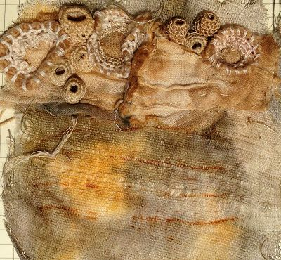 Julia Wright fabric manipulation and crochet