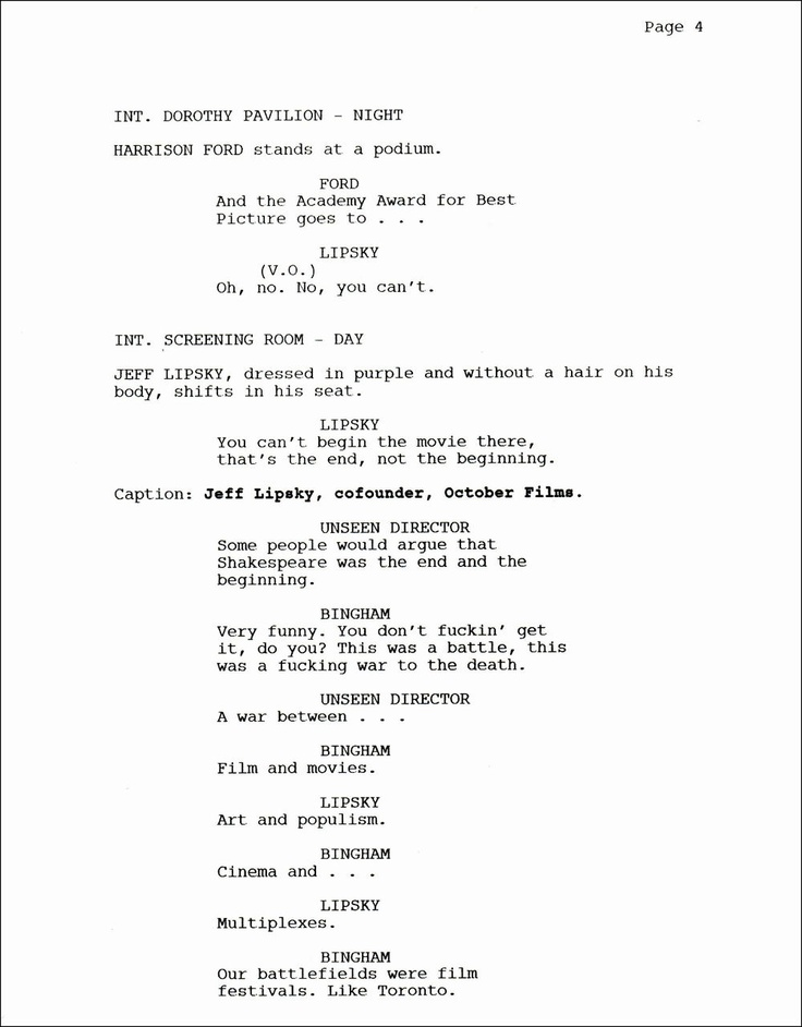 79 best ~screenwriting screenplays images on Pinterest - screenplay template
