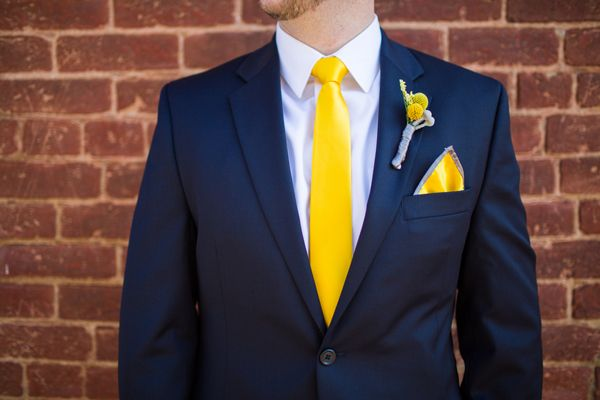 A Lovely Fall Wedding at Thomas Birkby House with Blue, Gray & Yellow Hues