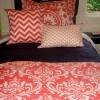 Coral Dorm Room Bedding Sets | Sorority and Dorm Room Bedding