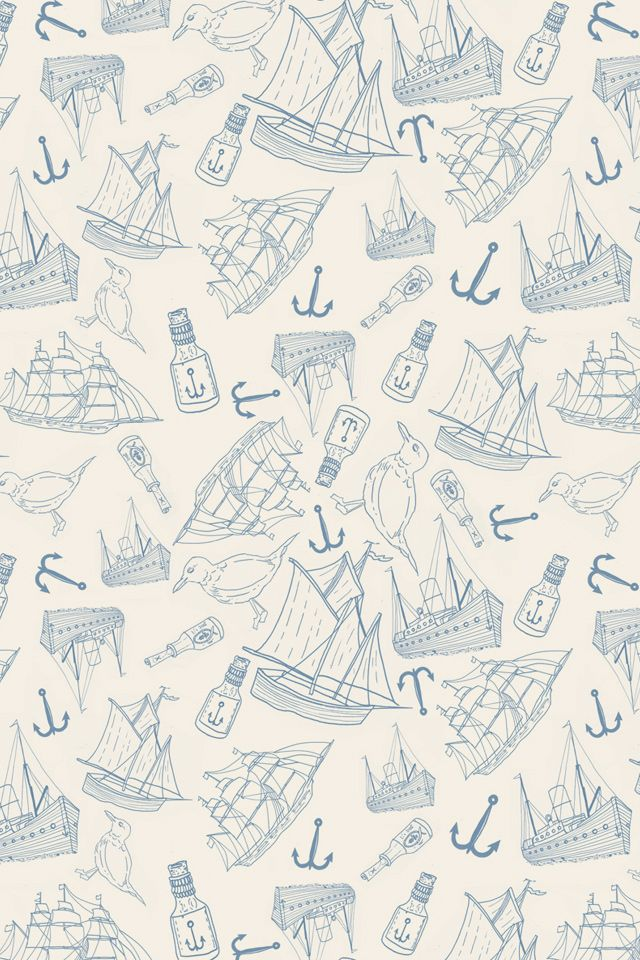 Nautical by Matt Glasby: Iphone Wallpapers, Iphone Backgrounds, Patterns, Illustration, Matt Glasby, Sea, Iphone5 Wallpapers, Anchor