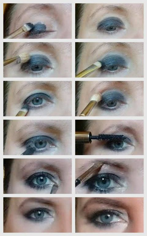 Füstös szem smink lépésről lépésre a blogon Topsmink , Makeup, Smokey eyes step by step