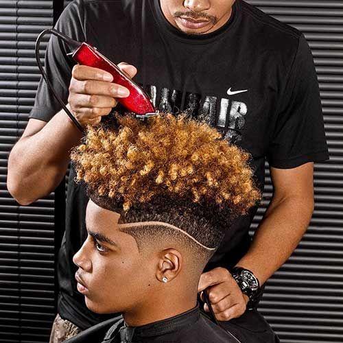 Gut bekannt 322 best Coiffure homme black images on Pinterest | Fade haircut  RZ89