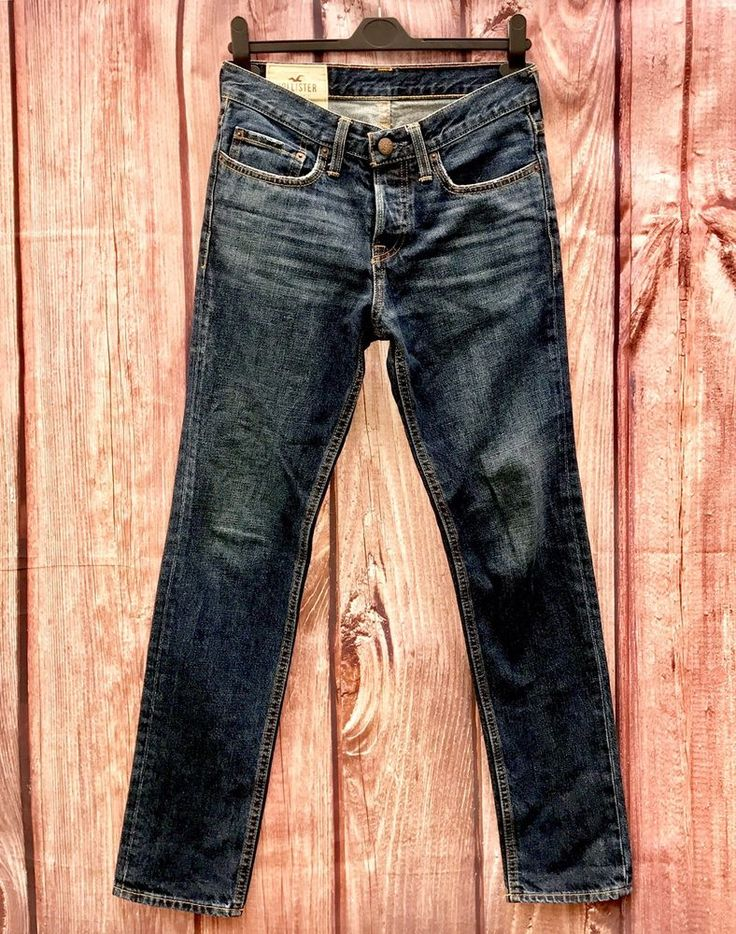 Authentic Genuine HOLLISTER california Jeans Mens W28 L30 denim skinny style