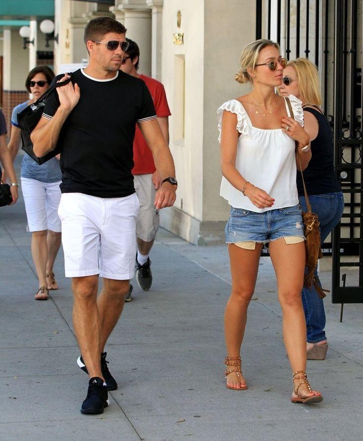 Steven Gerrard Photos: Steven Gerrard and Alex Curran Hang Out in Beverly Hills