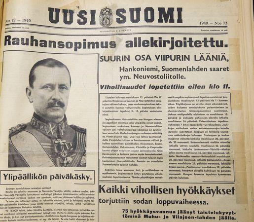Talvisodan rauha 1940