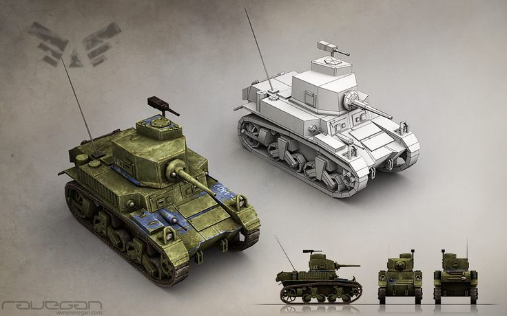 Light Tank (Blue faction). Team Ravegan. Fan page: https://www.facebook.com/RaveganGames  #3DModeling #3D #3DModels