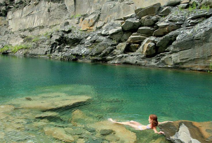 wild swimming blue lagoon llangollen