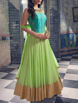 Royal blue maxi dress lime road anarkali