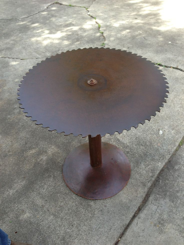 Wooden And Metal Coffee Table