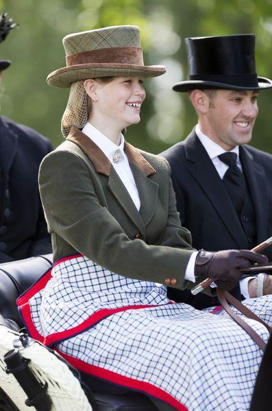 Lady Louise Windsor, 14 mai 2017, Conduit un attelage dans le cadre de la manifestation «Champagne Laurent-Perrier Meet» organisée par la «British Driving Society», Royal Windsor Horse Show (Home Park, Windsor)